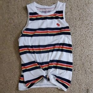 Girls Abercrombie tank with tie front